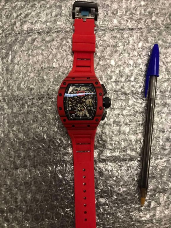 Replica Richard Mille RM 11-03 Black Dial Red Rubber Ceramic